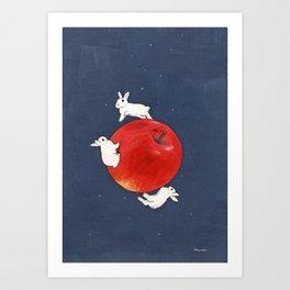 Planet Apple Art Print