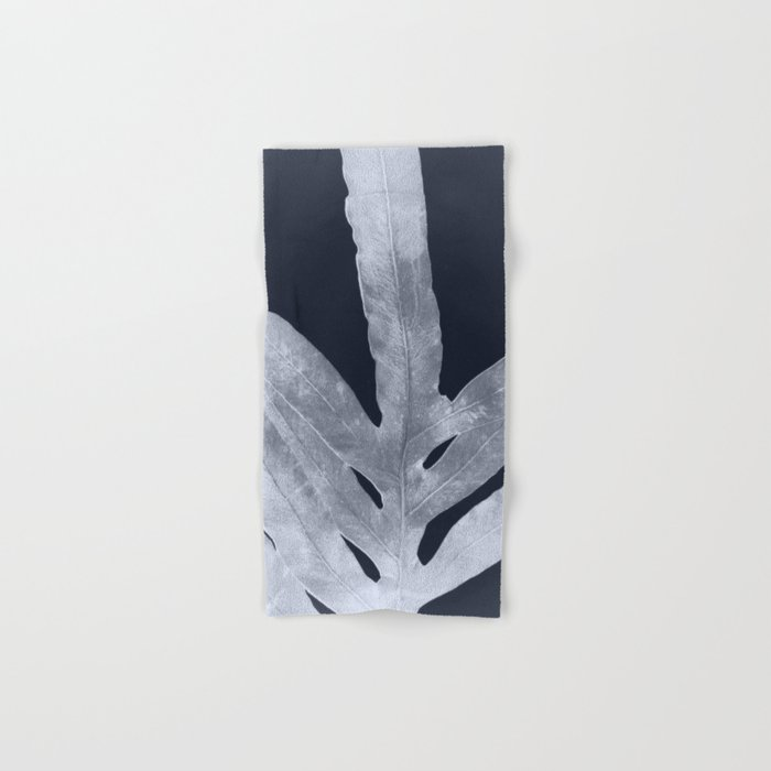 Green Fern Silver Black Hand & Bath Towel