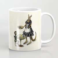 kangaroo Mugs featuring Kangaroo cafe by Anna Shell