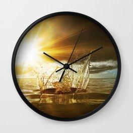 Water Sculpture 5. Wall Clock