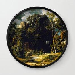 Roman Landscape - Arnold Bocklin Wall Clock