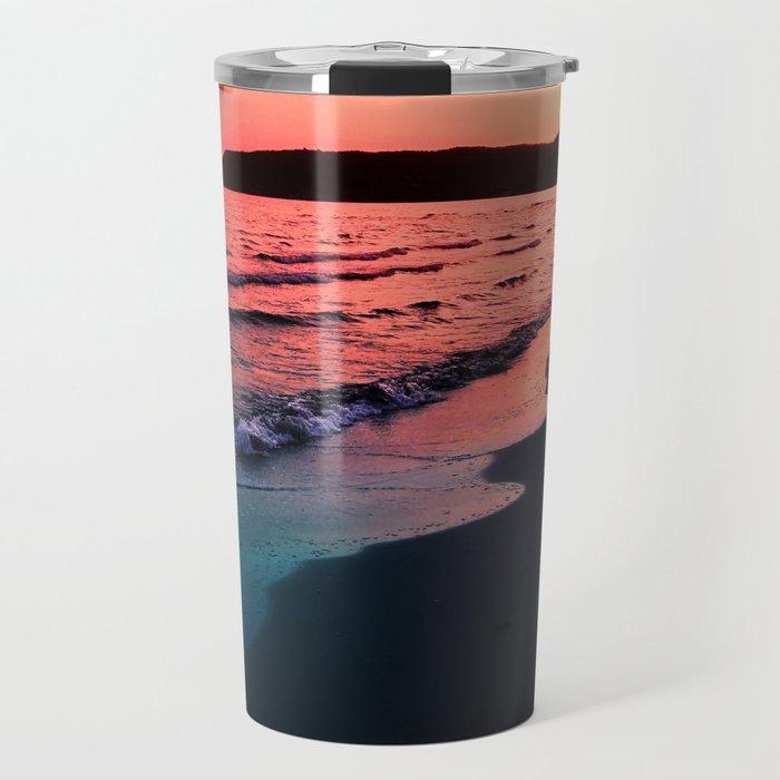 A bold Sunset Travel Mug