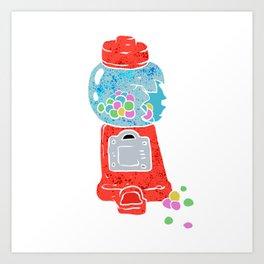 Bubble gum machine. Art Print