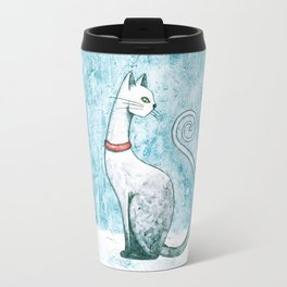 Winter Cat Travel Mug