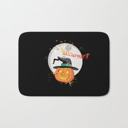 Halloween's pumpkin Bath Mat