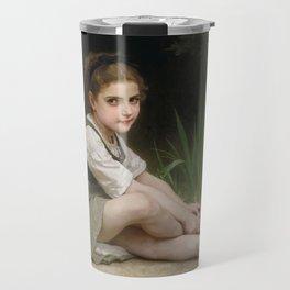 "William-Adolphe Bouguereau ""Au bord du ruisseau"" Travel Mug"