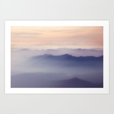 Forest Fires From 10,000ft on Middle Sister Mountain Art Print