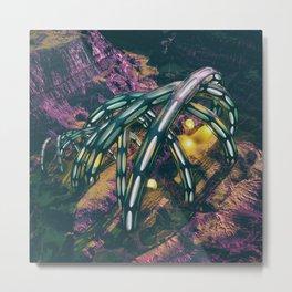 [Purple Slices] Metal Print