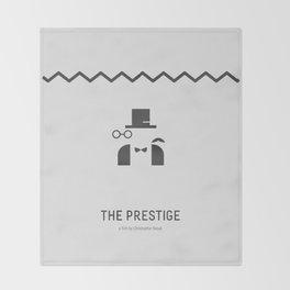Flat Christopher Nolan movie poster: The Prestige Throw Blanket