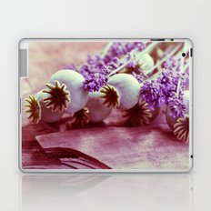 Opium poppy capsule Lavender flower still life Laptop & iPad Skin