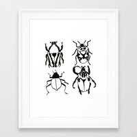 insects Framed Art Prints featuring Insects by Kim Cooper Collections