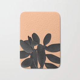 Black Pastel Orange Cacti Vibes #1 #plant #decor #art #society6 Bath Mat