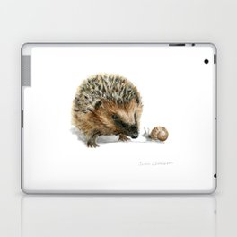 """""""Close Encounter"""" painting of a Hedgehog and Snail by Teresa Thompson Laptop & iPad Skin"""