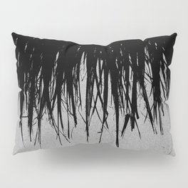 Concrete Fringe Black Pillow Sham