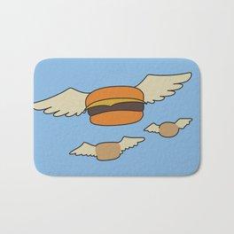Bob's Burgers Flying Hamburger picture Bath Mat