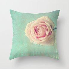 Mint Rose  Throw Pillow