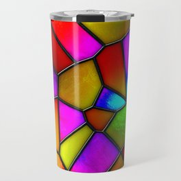 clown stained glass Travel Mug