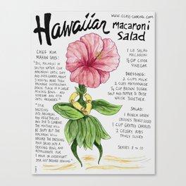 Hawaiian Macaroni Salad Canvas Print