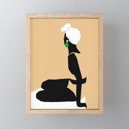 Swimmer Framed Mini Art Print
