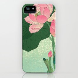 Flowering Lotus Flowers Ohara Koson iPhone Case