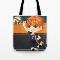haikyuu Tote Bags featuring Haikyuu!! by Nozubozu