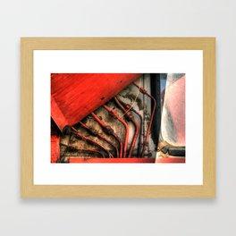 Red Ray of God Framed Art Print