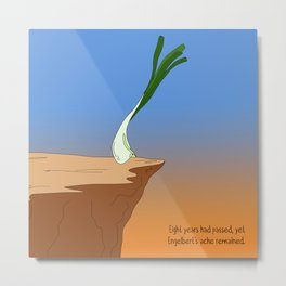 raw scallion. Metal Print