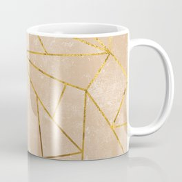 Rustic Stone With Modern Gold Accent Lines Coffee Mug