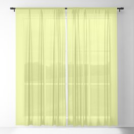 Spring - Pastel - Easter Yellow Solid Color 3 Sheer Curtain