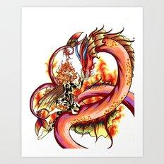Elemental series - Fire Art Print