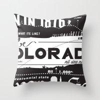 colorado Throw Pillows featuring Colorado by To Be Colorado