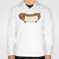 hot dog Hoodies featuring HOT DOG by Keasy