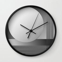 Lightened Moon Wall Clock