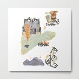Harvesting Metal Print