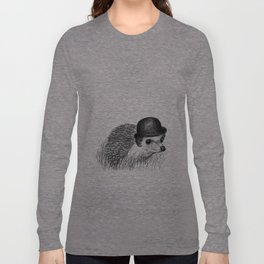 Hedgehog in a Bowler Hat Long Sleeve T-shirt