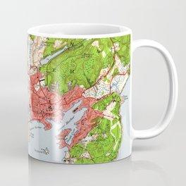 Vintage Map of Gloucester Massachusetts (1949) Coffee Mug