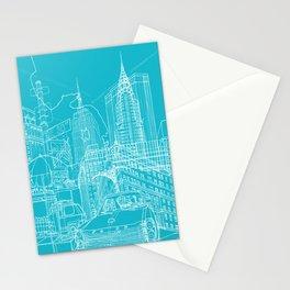 New York! Blueprint Stationery Cards