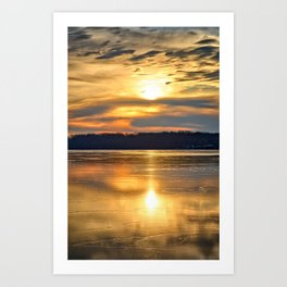 Sun On The Ice 2 Art Print