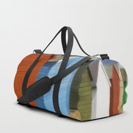 Multi-coloured beach Huts Duffle Bag