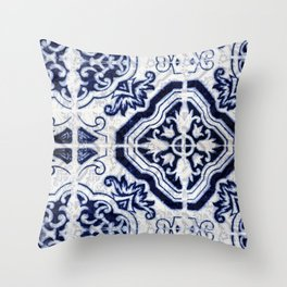 Azulejo VI - Portuguese hand painted tiles Throw Pillow