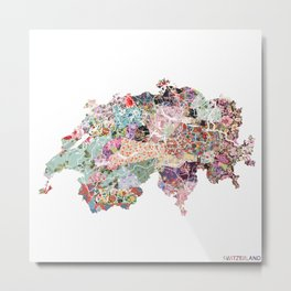 Switzerland map Metal Print