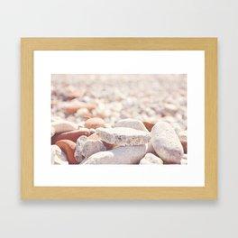 AFE Beach Rocks, Beach Photography Framed Art Print