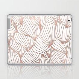 Rose gold petals Laptop & iPad Skin