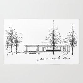 The Barcelona Pavilion -  Ludwig Mies van der Rohe Rug