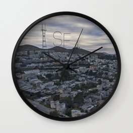 San Francisco - Sutro Tower Chill Wall Clock
