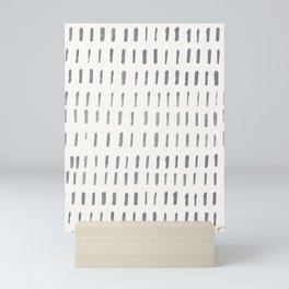 Minimal Brush Strokes- Coordinating Pattern Mini Art Print