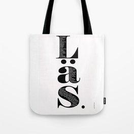 Läs - vit Tote Bag