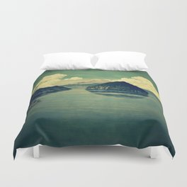 Distant Blues Duvet Cover
