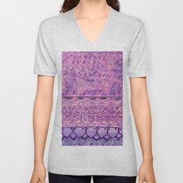 Purple Doodle Unisex V-Neck