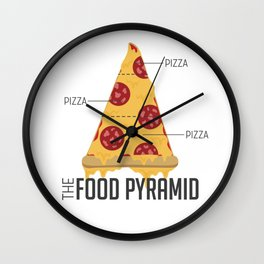 Pizza Pyramid Wall Clock
